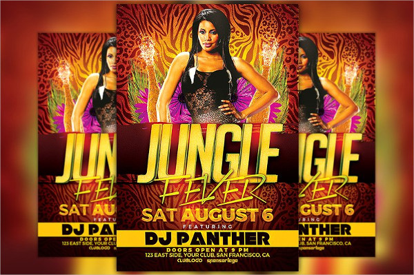 Jungle Fever Party Flyer Templates