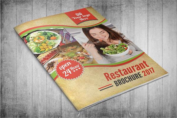 Restaurant Menu Bifold Brochure Template