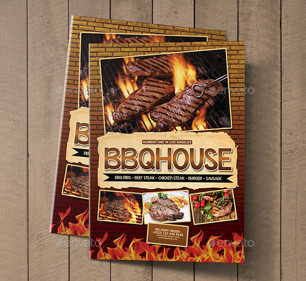Retro BBQ Bi-Fold Menu Template
