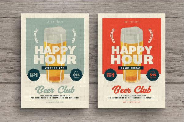 Retro Happy Hour PSD Design