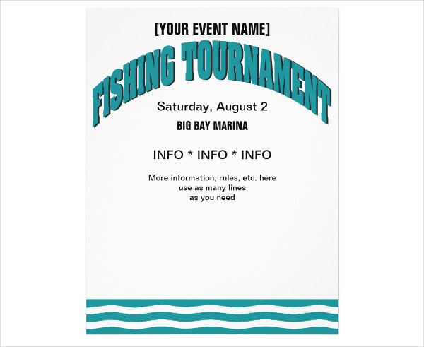 Fishing Trip Flyer Design