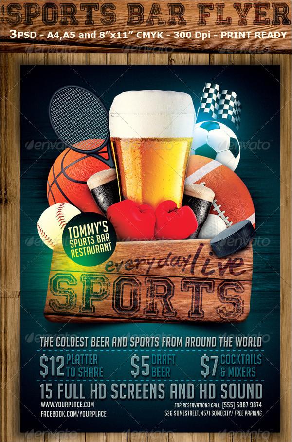Sports Bar Party Flyer Design