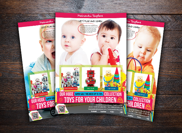 Toy Store Advertising Flyer Template