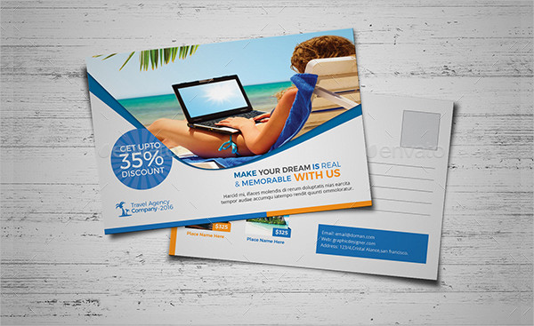 Travel Postcard Templates Bundle Download