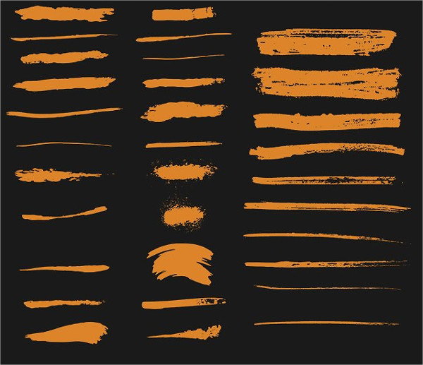 Vector Ink Grunge Brush Collection