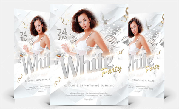 White Party Free PSD Flyer Design