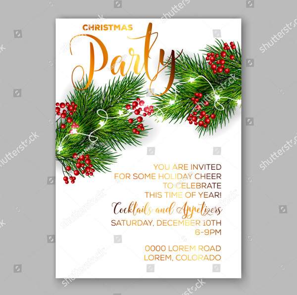 Attractive Christmas Invitation Template