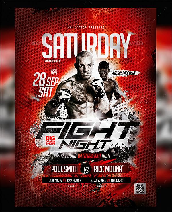 Champion Boxing Flyer Design