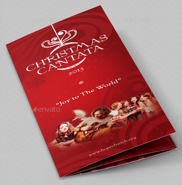 Christmas Cantata Brochure Template