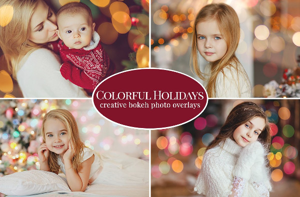 Colorful Christmas Overlays Photoshop Actions