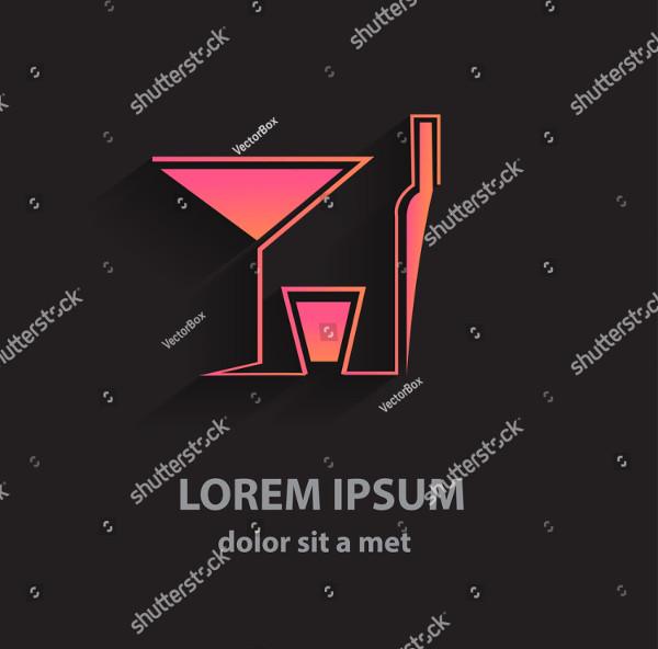 Creative Vector Logo of Bar
