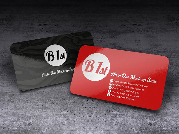 Realistic Letterpressed Business Card Template