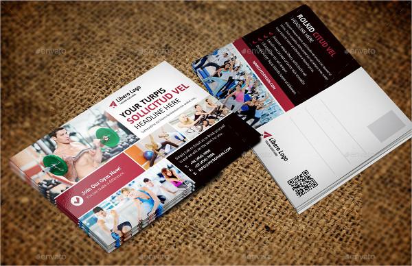 Fashion Fitness Postcard Template