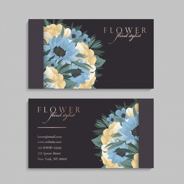 Flower Business Cards Free Download