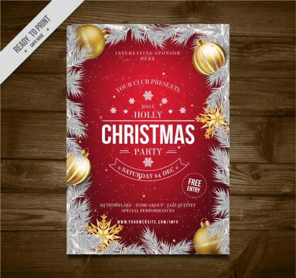 Free Vector Christmas Party Brochure