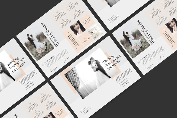 Fully Editable Wedding Photography Brochures