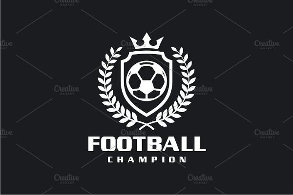 Editable Football Champion Logo