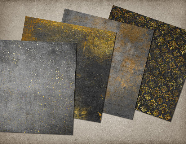 Grunge and Gold Textures