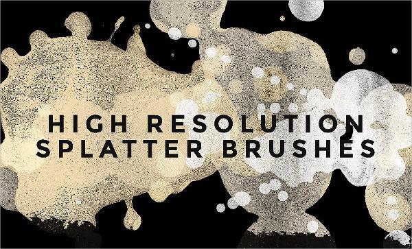 Hi-Res Paint Splatter Brush Pack