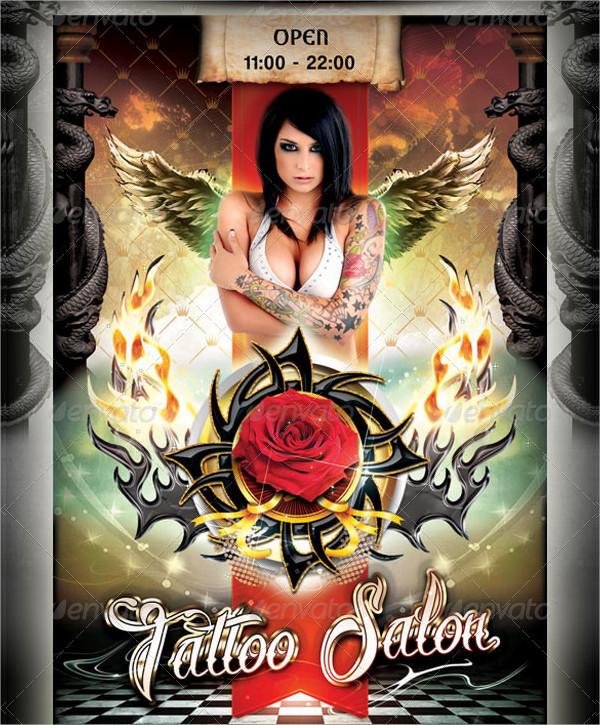 Modern Tattoo Flyer Template