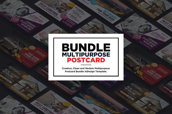 Multipurpose Postcard Templates Bundle