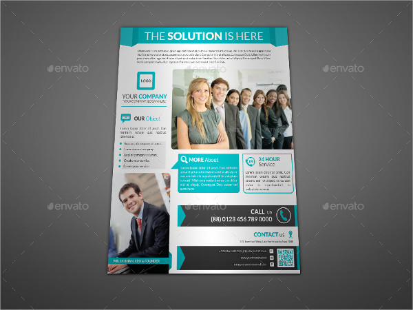 Printable Flyer Design for Corporate Business