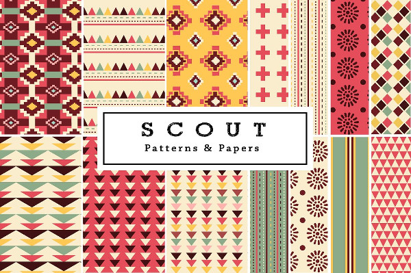 Scout Tribal Seamless Patterns