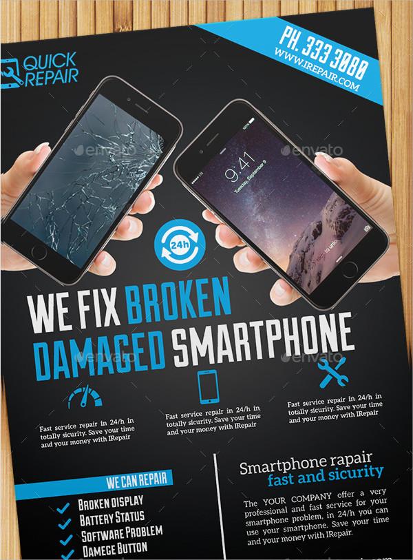 Smartphone Repair Flyer or Poster Template
