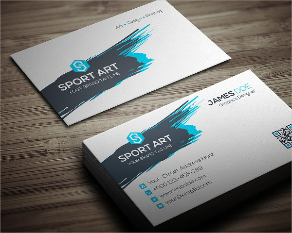 Sport Art Business Card Template