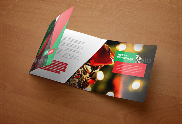 Square Modern Christmas Brochure Template