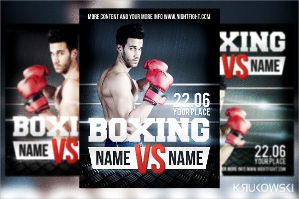 Clean Kickboxing Flyer PSD