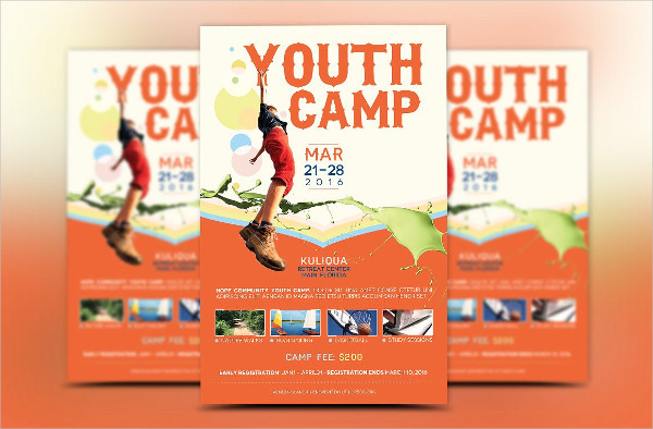 Best Youth Camp Flyer Template