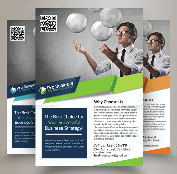 Unique Business Solutions Consultant Flyer Templates