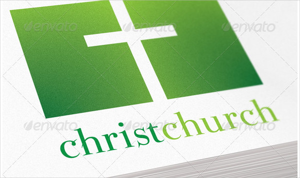 Christ Church Religious Logo Template