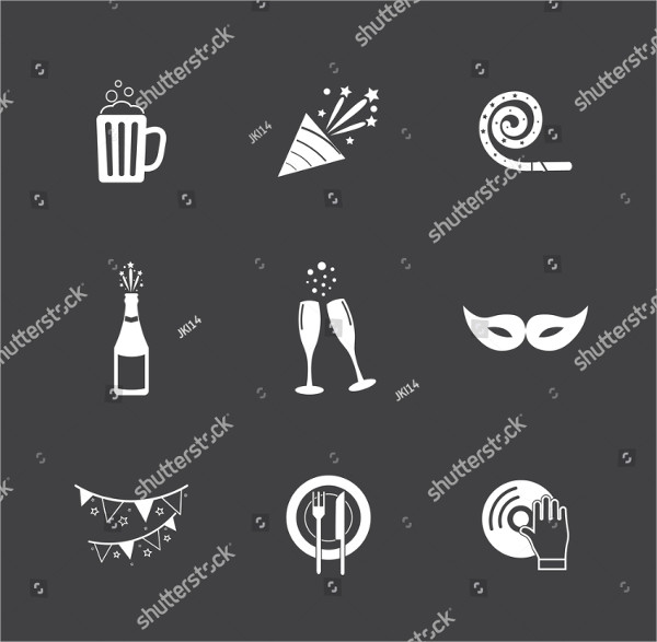 Decorative Party Event Icons