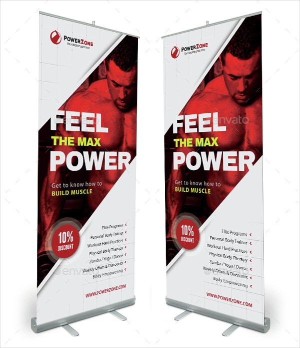 Gym Activity Roll-Up Banner Template