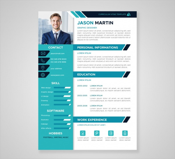 Flat Professional Curriculum Template Free