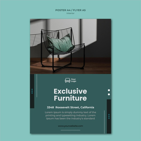 Free PSD Furniture Concept Poster