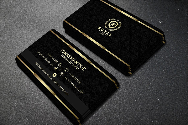 Black Pattern Business Card Templates