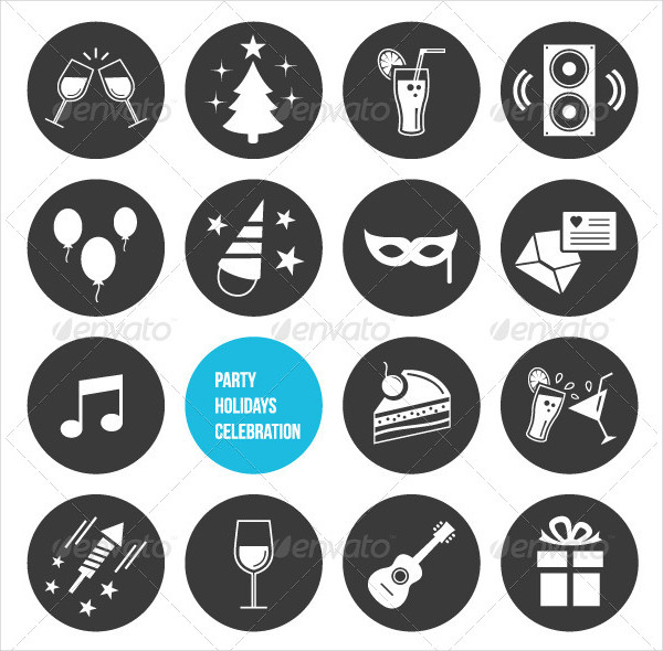 Vector Holiday Celebration Icons