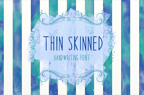 Thin Skinned Handwriting Font