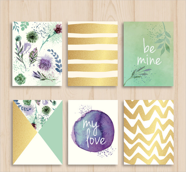 Watercolor Nature Flyers Collection