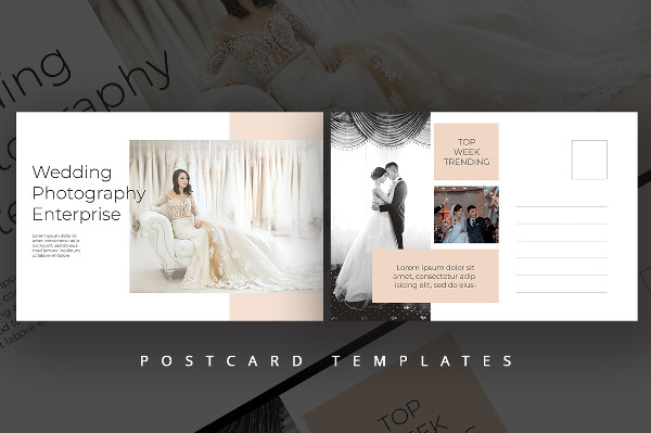 Wedding Photography Postcard PSD