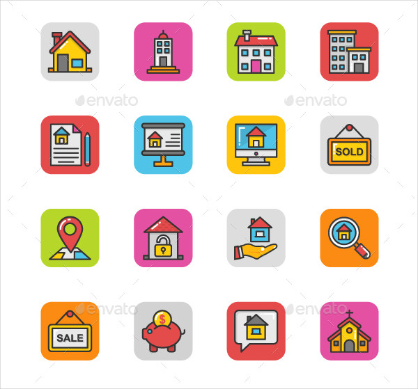 200 Real Estate Icons
