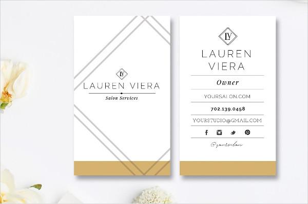 Best Beauty Salon Business Card Template