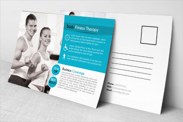 Corporate Fitness Post Cards Template