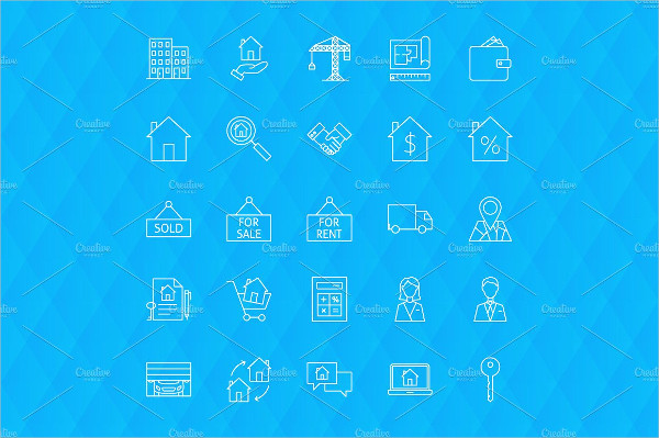 Thin Linear House and Building Symbols