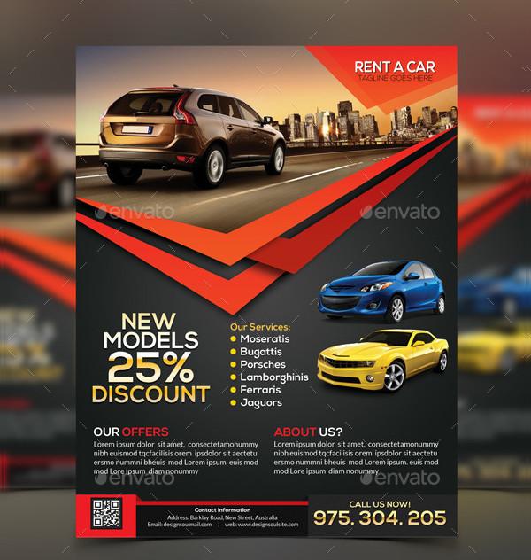 Rent A Car Agency Flyer