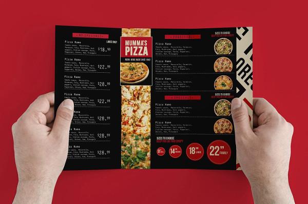 Tasty Pizza Menu Design Template