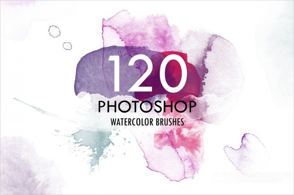 120 Watercolor Photoshop Brushes